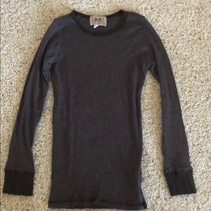 Juicy couture brown ribbed long sleeve tee